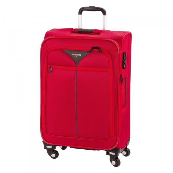 Hardware Skyline 3000 Trolley 68 cm 4 Rollen red-grey - Frontansicht
