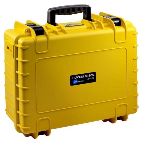 B&W Outdoor Case Typ 5000 gelb - Vorderansicht