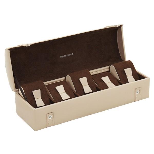 Friedrich 23 Cordoba Uhrenkoffer aus Leder für 5 Uhren Etui-Look