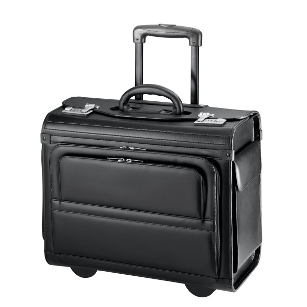 d&n Business & Travel Pilotenkoffer 37 cm 2 Rollen schwarz