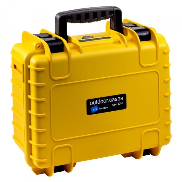 B&W Outdoor Case Typ 3000 gelb - Vorderansicht