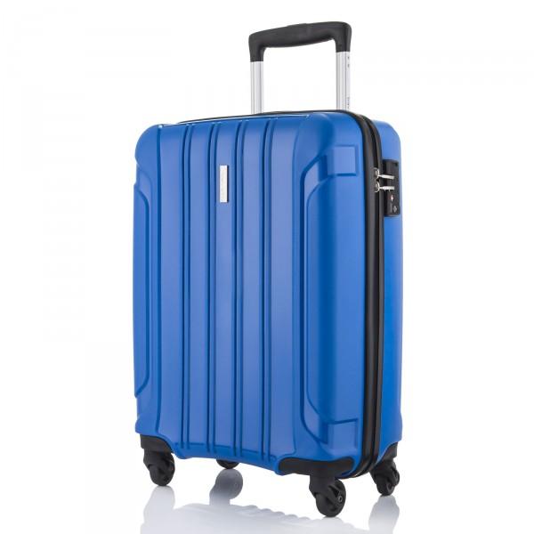 travelite Colosso Kabinentrolley 55 cm 4 Rollen blau - Frontansicht