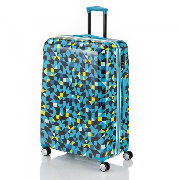 travelite Campus Quadro Trolley 78 cm 4 Rollen blau Schrägansicht
