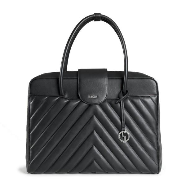 SOCHA Business-Handtasche Soft Quilted 41 cm black Frontansicht