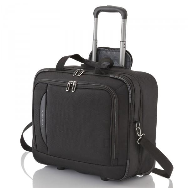 travelite CrossLITE Business-Trolley 41 cm 2 Rollen schwarz - Frontansicht