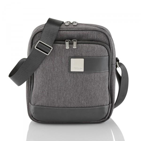 TITAN Power Pack Schultertasche 22 cm Mixed Grey