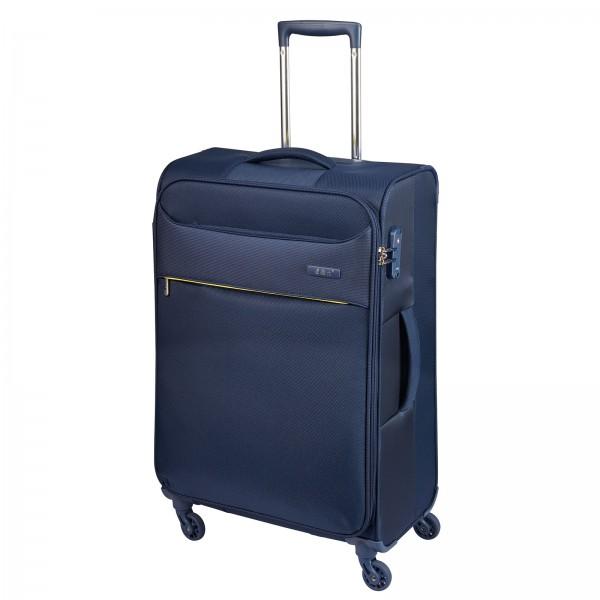 d&n Travel Line 6304 Trolley 69 cm 4 Rollen blau Frontansicht