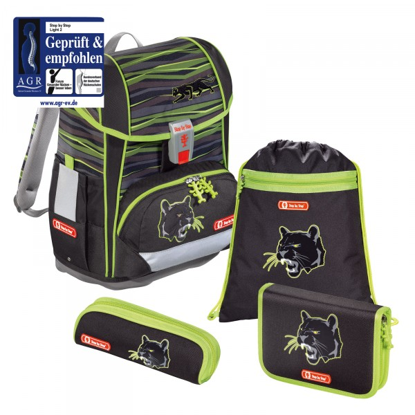 Step by Step Light 2 Schulranzen-Set 4-teilig Wild Cat