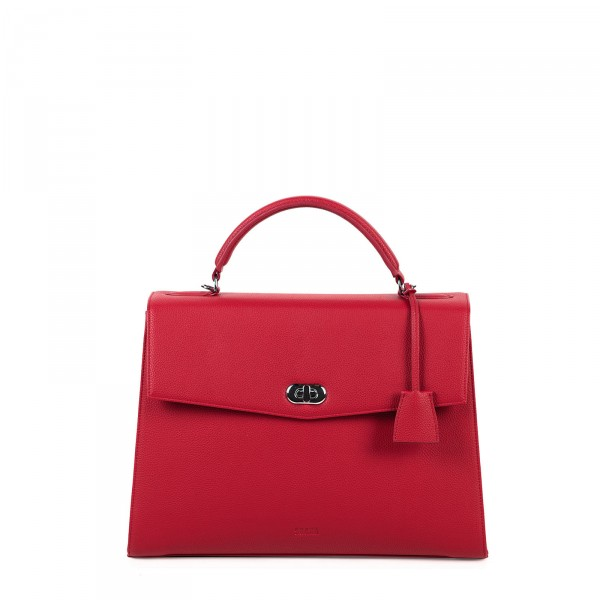 SOCHA Business-Handtasche Audrey 40 cm cherry red Frontansicht