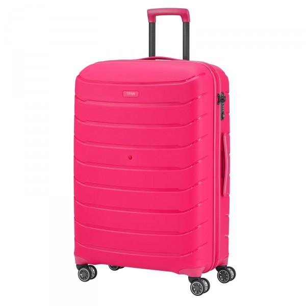 TITAN Limit Trolley 77 cm 4 Rollen pink Schrägansicht
