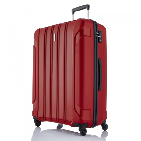 travelite Colosso Trolley 76 cm 4 Rollen rot - Frontansicht