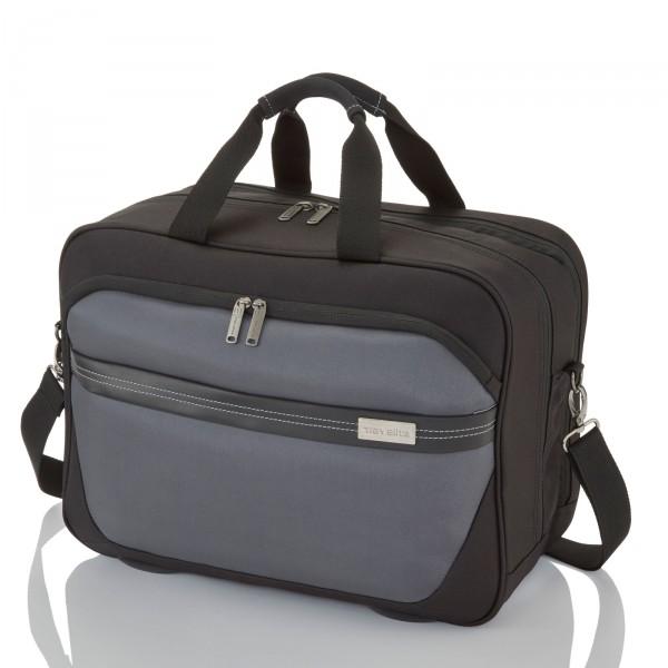 travelite Meteor Bordtasche 45 cm schwarz - Frontansicht
