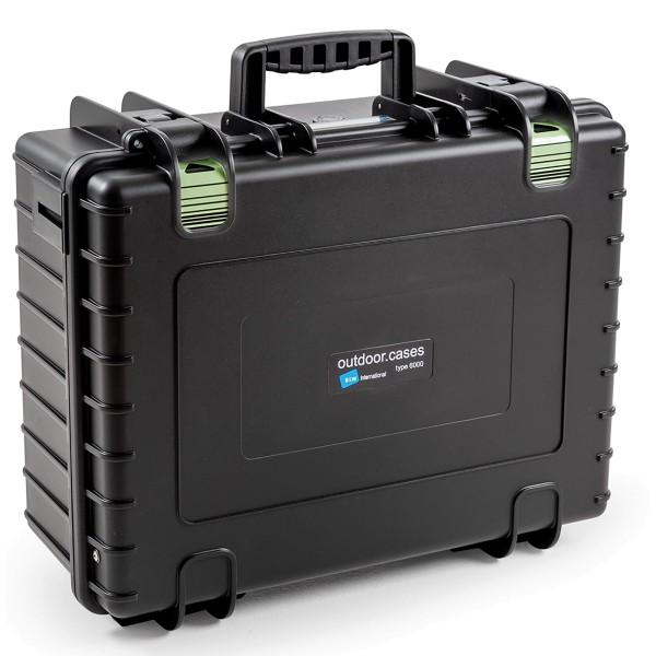B&W Outdoor Case Typ 6000 Notfallkoffer mit variabler Facheinteilung