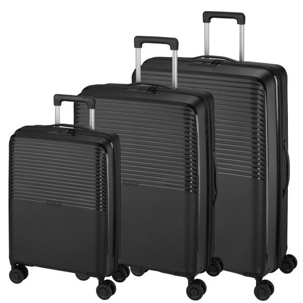 d&n Travel Line 4000 Trolley-Set 3-teilig 4 Rollen schwarz