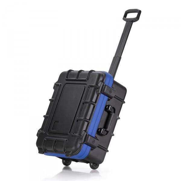 bwh Koffer PowerPack Transportkoffer Typ 2 mit 2 Rollen schwarz Ansicht Trolleyfunktion