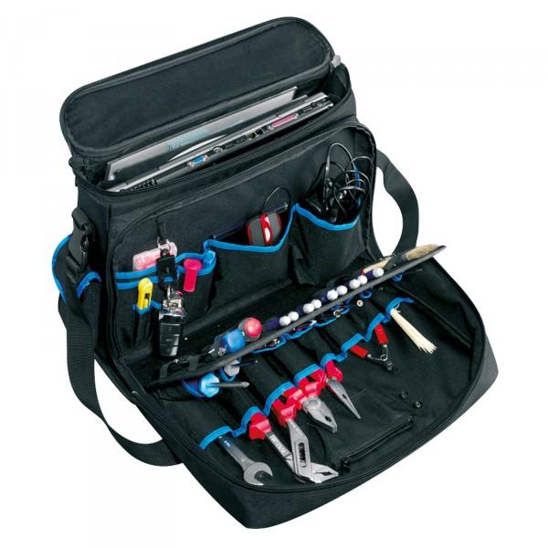 B&W Tec Bag Werkzeug-Umhängetasche Typ service mit Laptopfach - offen mit Werkzeug