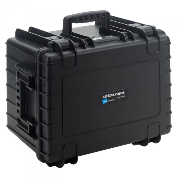 B&W Outdoor Case Typ 5500 schwarz - Vorderansicht
