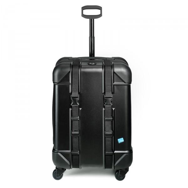 bwh Koffer Voyager Trolley 67 cm 4 Rollen schwarz - Frontansicht