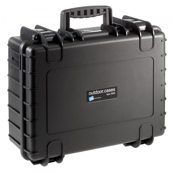 B&W Outdoor Case Typ 5000 schwarz - Vorderansicht