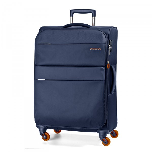 March15 Elle Trolley 67 cm 4 Rollen erweiterbar navy - Frontansicht