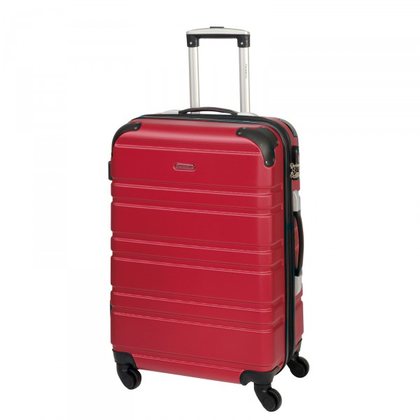 CHECK.IN Paradise Bern Trolley 67 cm 4 Rollen rot Frontansicht