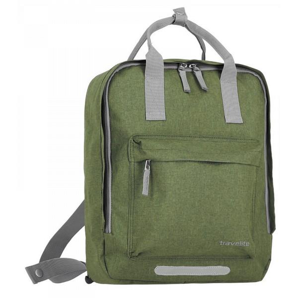 travelite Basics Griff-Rucksack 40 cm grün
