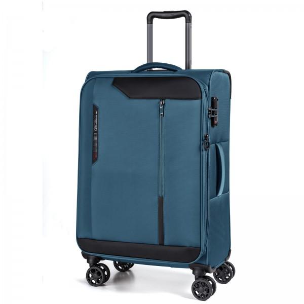 March15 Stardust Trolley 68 cm 4 Rollen erweiterbar petrol blue  Schrägansicht