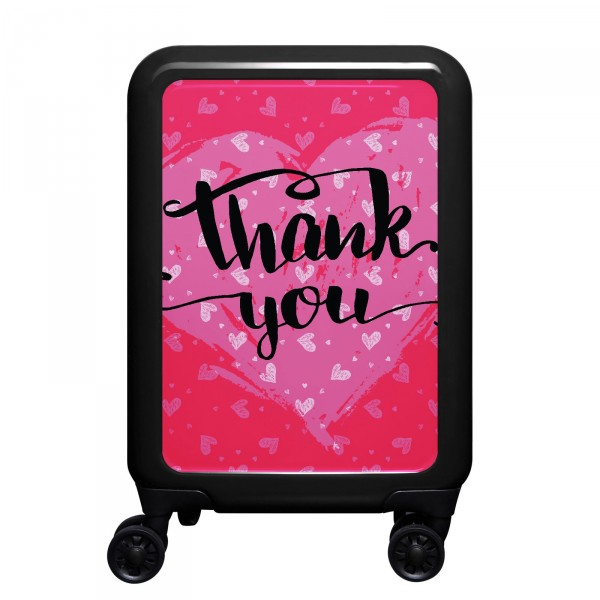meinTrolley Thank You 55cm 4 Rollen schwarz