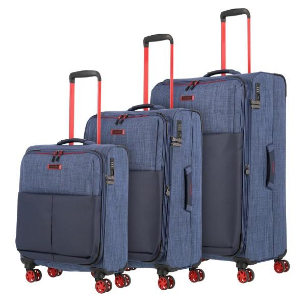 travelite Proof Trolley Set 55/68/78 cm 4 Rollen marine