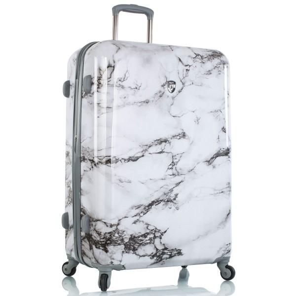 Heys Bianco Trolley 76 cm 4 Rollen erweiterbar White Marble