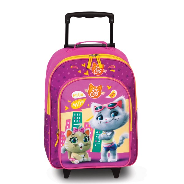 Fabrizio Kids 44Cats Kindertrolley 42 cm 2 Rollen fuchsia