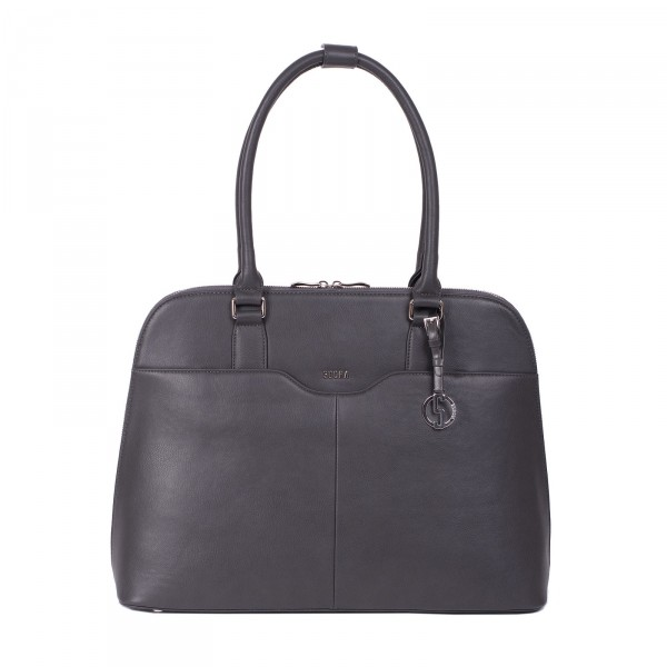 SOCHA Couture Taupe Gris Laptoptasche 44 cm - Frontansicht