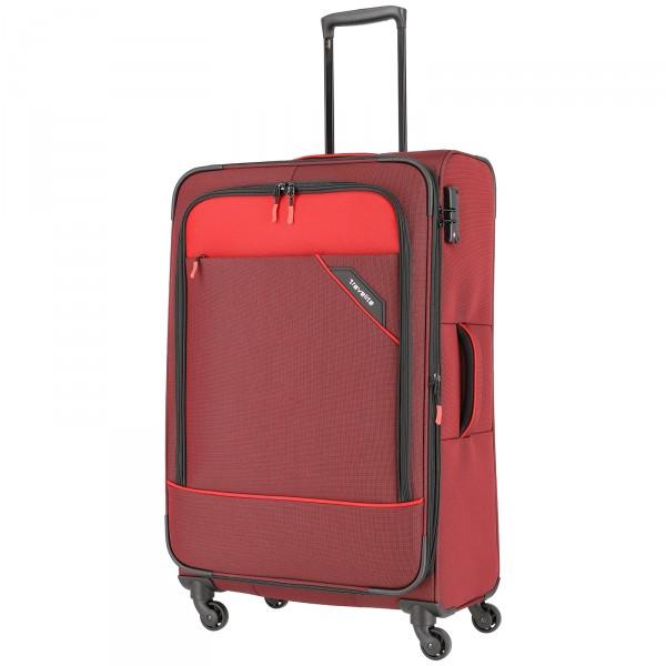 travelite Derby Modell 2018 Trolley 77 cm 4 Rollen erweiterbar rot