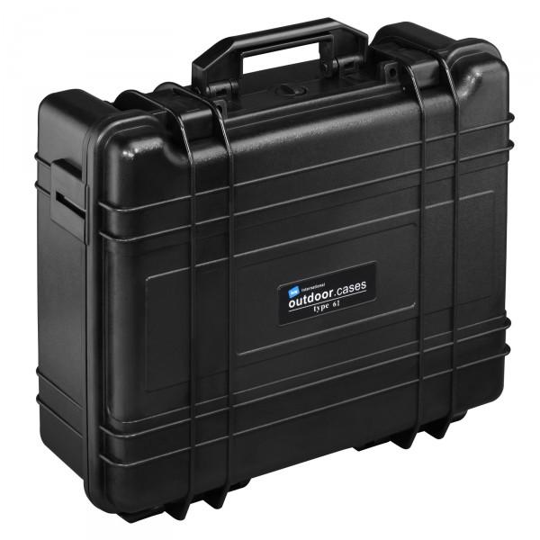 B&W Outdoor Case Typ 61 schwarz - Vorderansicht