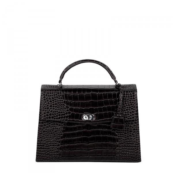 SOCHA Business-Handtasche Audrey Croco 40 black Frontansicht