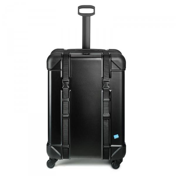 bwh Koffer Voyager Trolley 79 cm 4 Rollen schwarz - Frontansicht