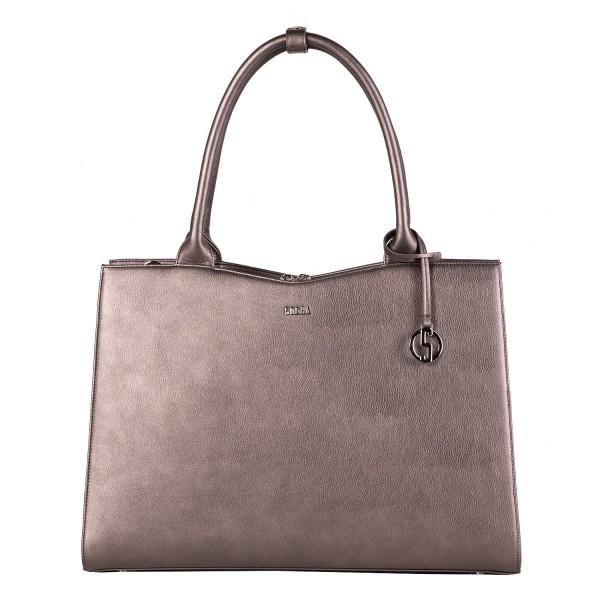 SOCHA Business-Handtasche Straight Line 44 cm Grey Frontansicht