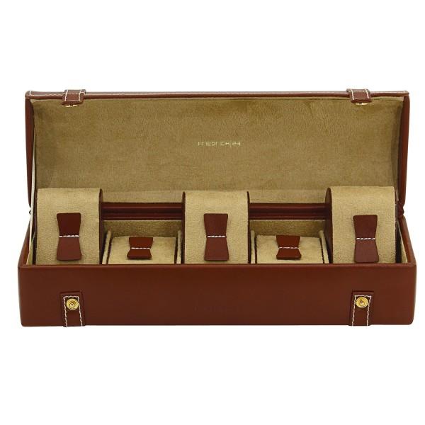Friedrich|23 Cordoba Uhrenkoffer aus Leder für 5 Uhren Etui-Look