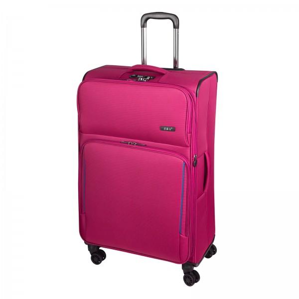 d&n Travel Line 7904 Trolley 78 cm 4 Rollen erweiterbar pink Schrägansicht