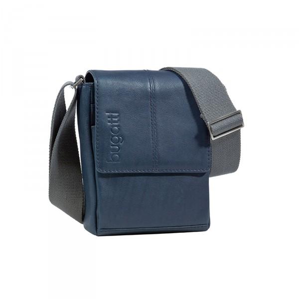 Bugatti John D. Kuriertasche 23 cm blau - Vorderansicht