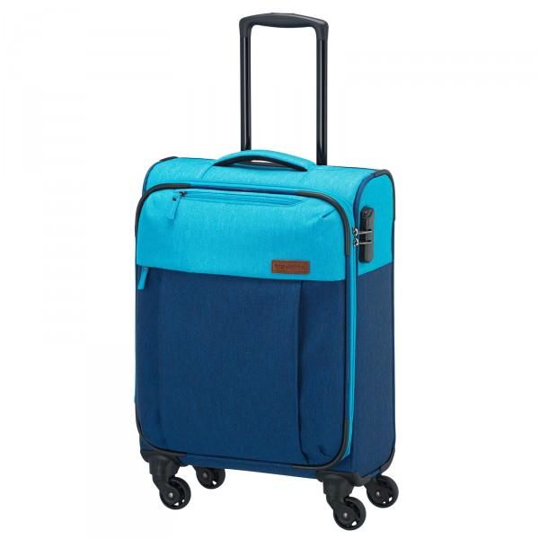 travelite Neopak Trolley 55 cm 4 Rollen marine/blau Schrägansicht