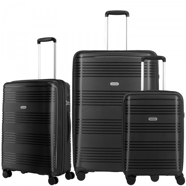 travelite Zenit Trolley Set 3-teilig schwarz