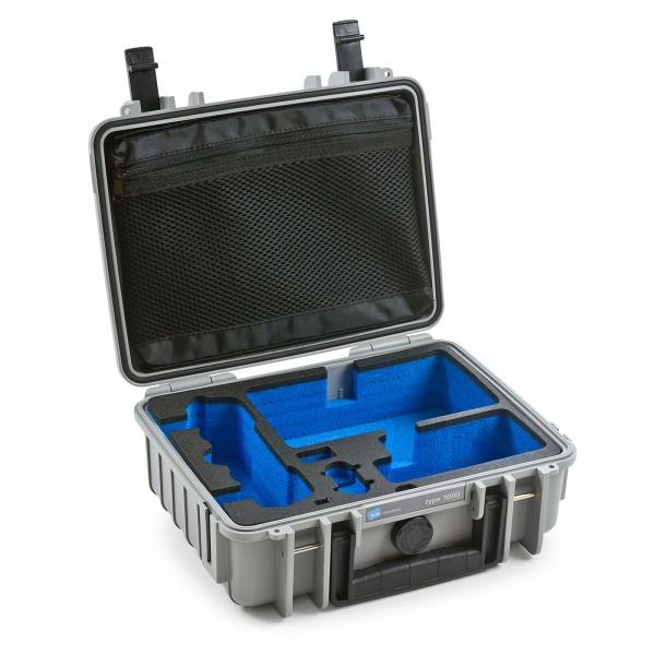 B&W Copter Case Typ 1000 für DJI Mavic Air grau offen leer