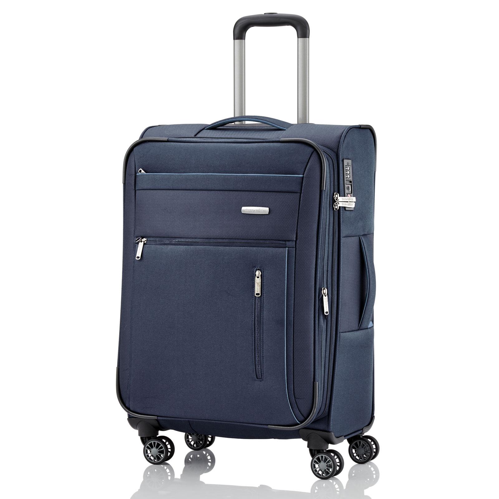 travelite capri trolley 66 cm 4 rollen erweiterbar g nstig kaufen koffermarkt. Black Bedroom Furniture Sets. Home Design Ideas