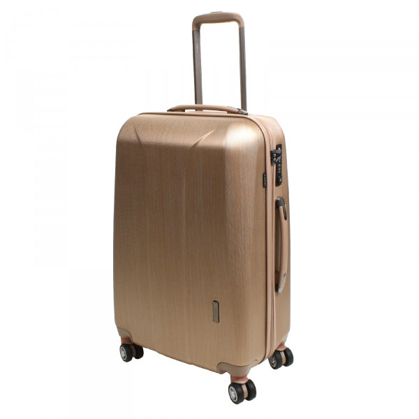March15 New Carat Trolley 65 cm 4 Rollen gold brushed Schrägansicht