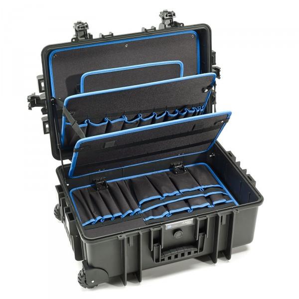 B&W JUMBO 6700 Trolley-Werkzeugkoffer POCKETS 2 Rollen - Innenansicht leer