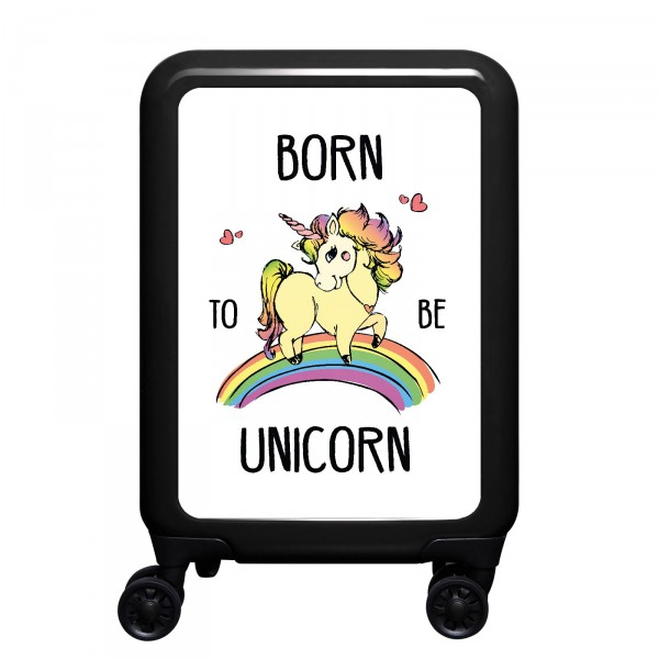 meinTrolley Born To Be Unicorn 55cm 4 Rollen schwarz
