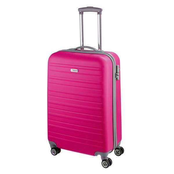 d&n Travel Line 9400 Kabinentrolley 54 cm 4 Rollen pink - Frontansicht