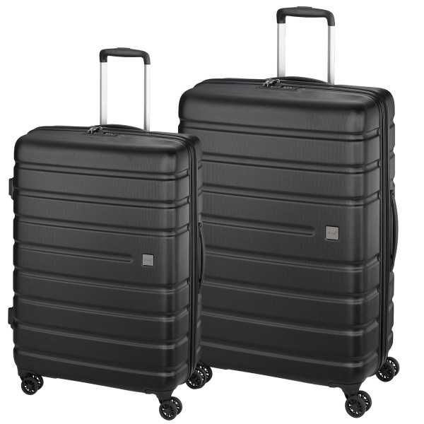 d&n Travel Line 2200 Trolley-Set 2-teilig 4 Rollen schwarz