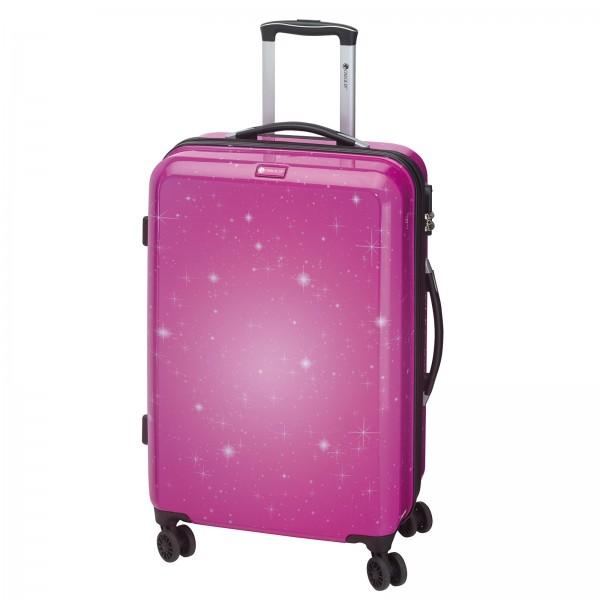 CHECK.IN Galaxy Trolley 69 cm 4 Rollen pink Frontansicht